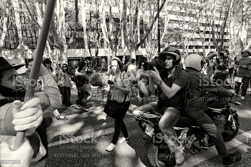 Cameraman in Demonstration royalty-free stock photo