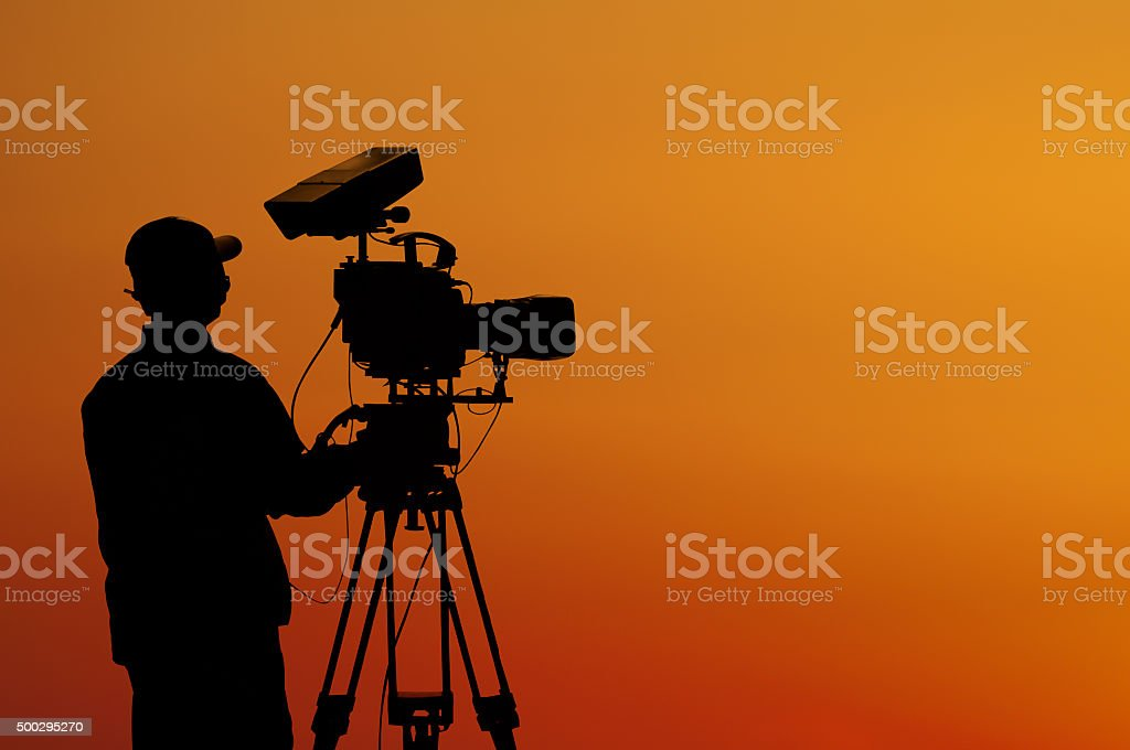 Cameraman stock photo