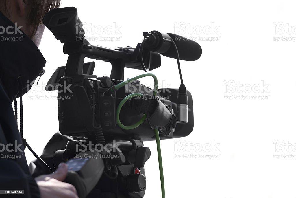 Cameraman silhouette royalty-free stock photo