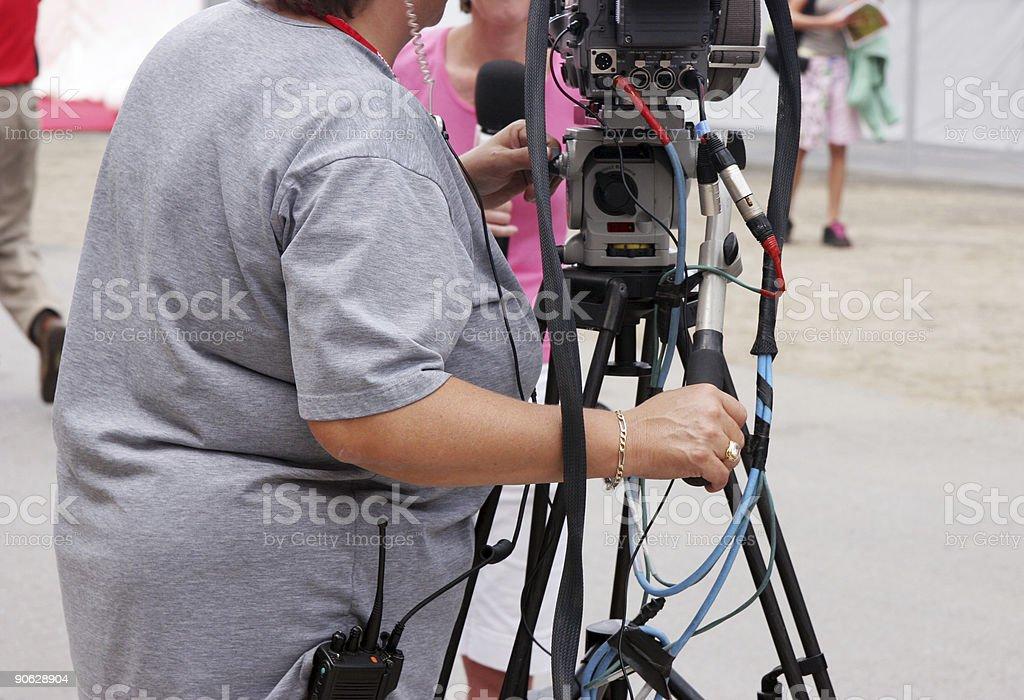 Cameramen at work stock photo