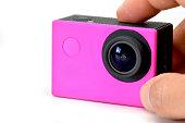 camera's action of color Fuchsia