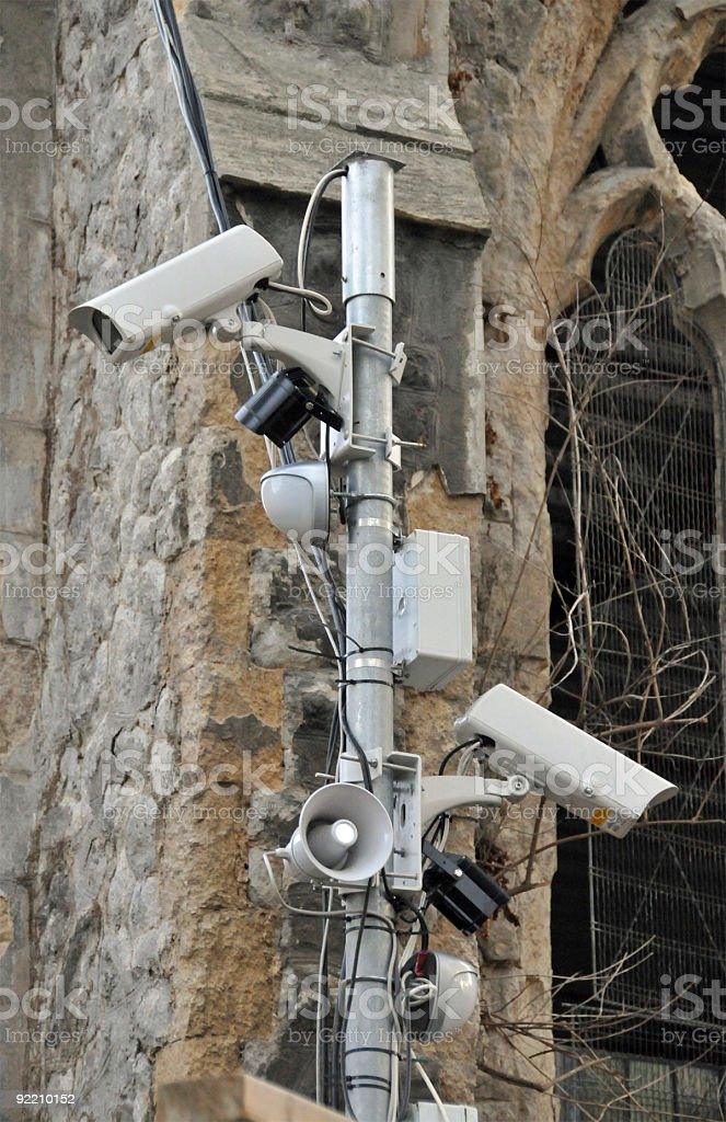 CCTV Cameras and Security System royalty-free stock photo
