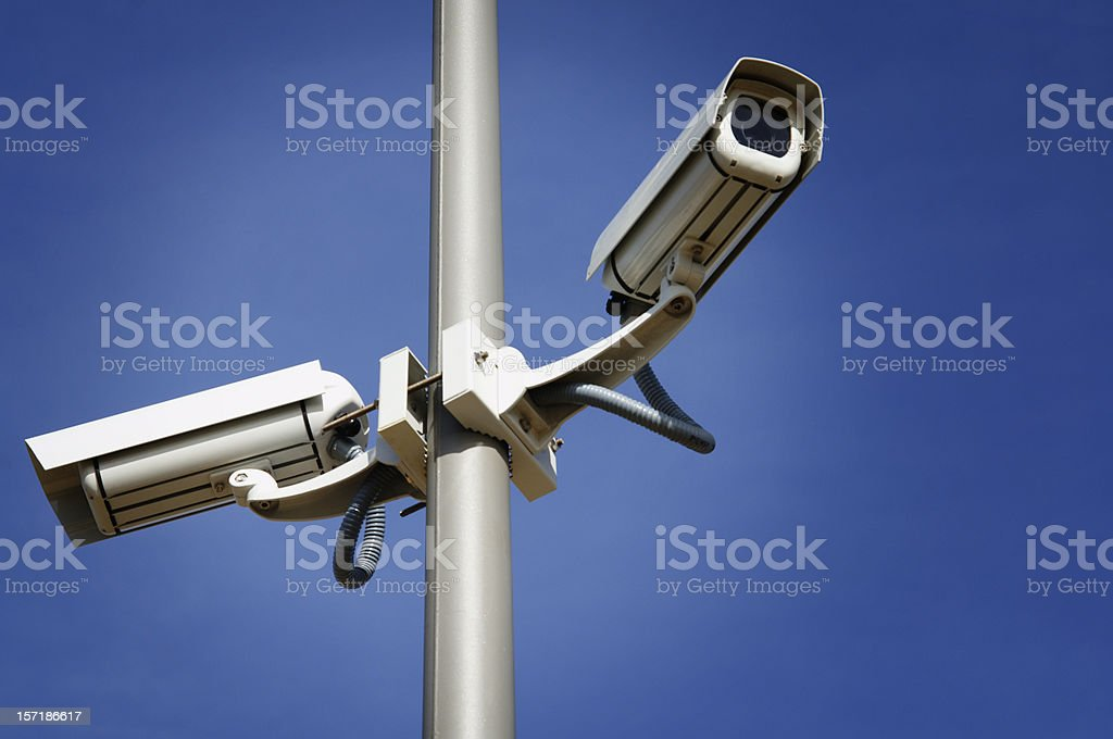 Cameras Surveillance royalty-free stock photo