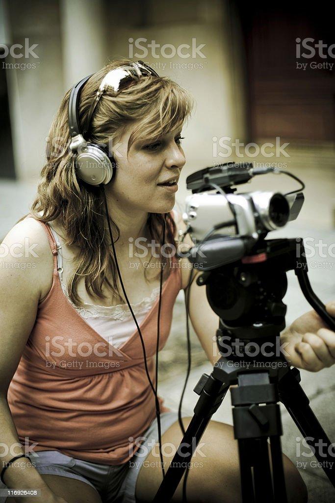 Camerawoman stock photo