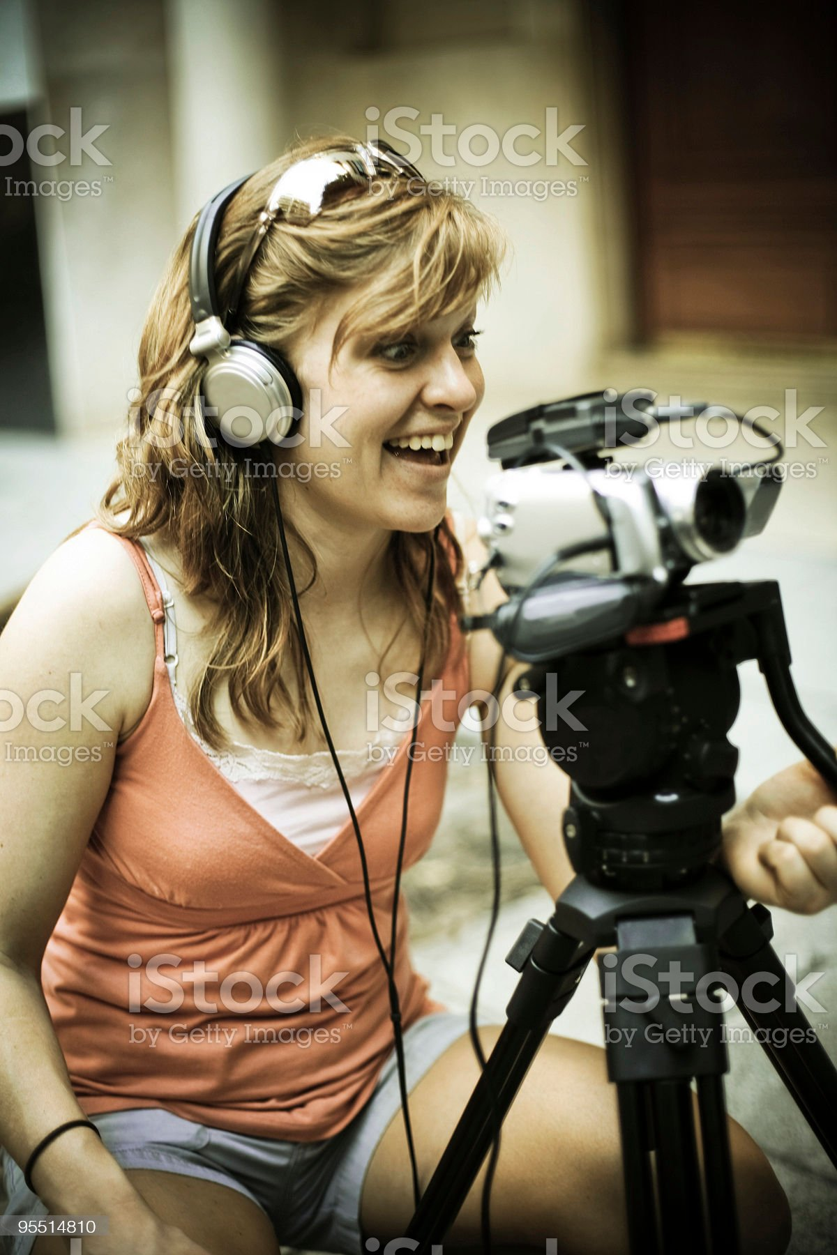 Camerawoman royalty-free stock photo