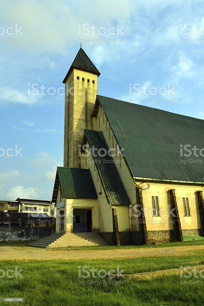 Cameroon, Douala: Centennial Temple royalty-free stock photo