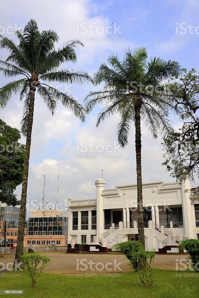 Cameroon, Douala: Chamber of Commerce stock photo