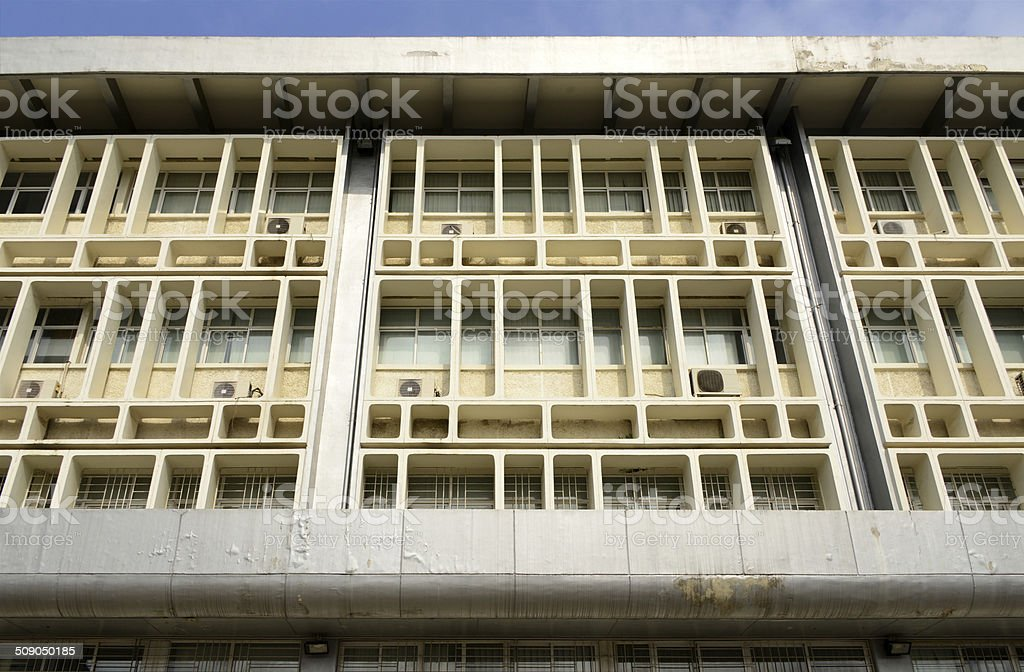 Cameroon, Douala: office building stock photo
