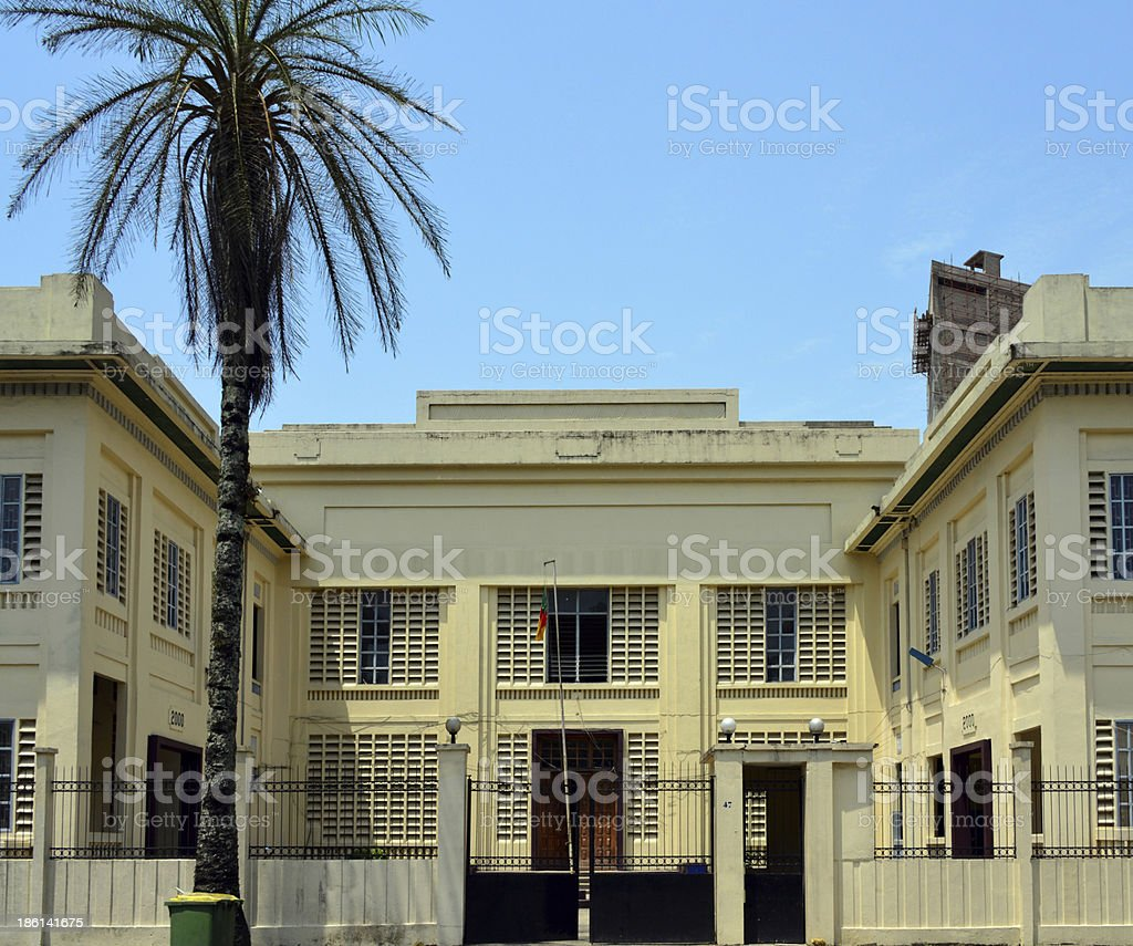 Cameroon, Douala: Palace of Justice stock photo
