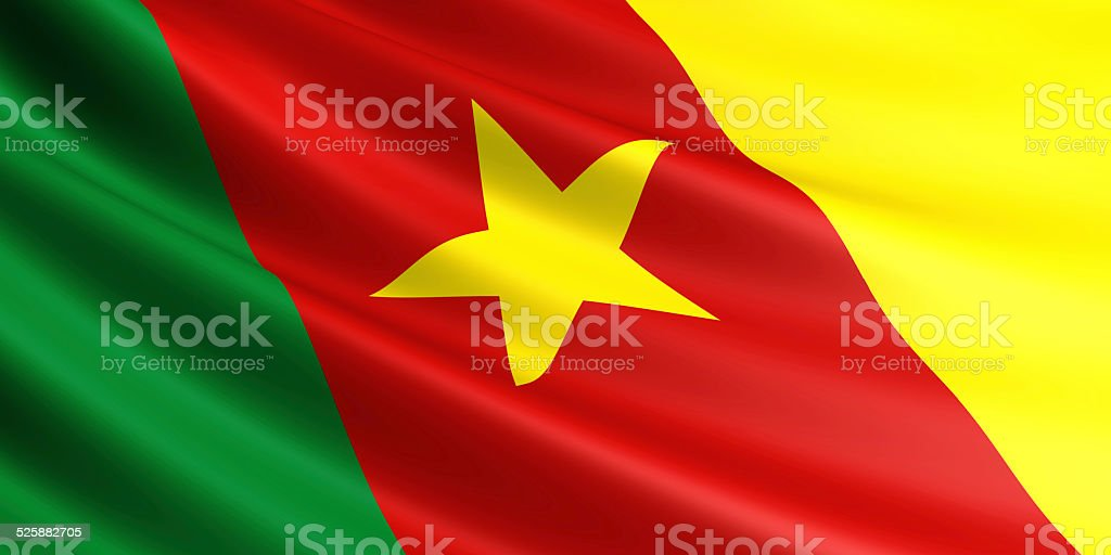 Cameroon flag. royalty-free stock photo