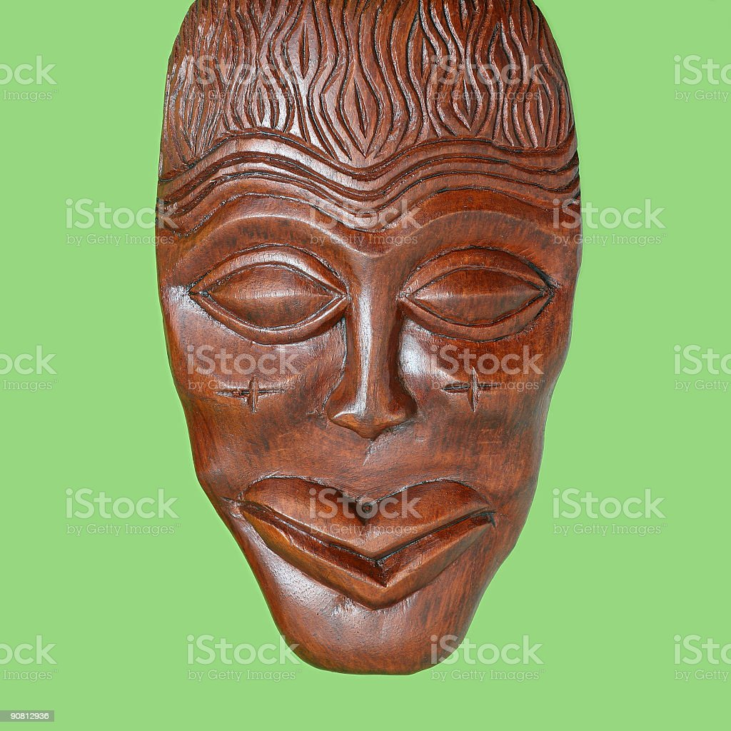 Cameroon mask royalty-free stock photo