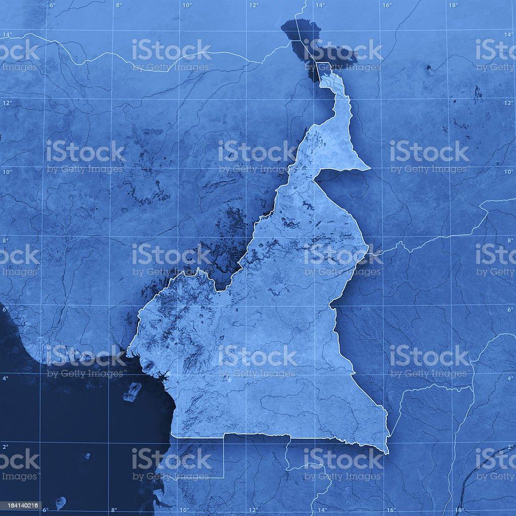 Cameroon Topographic Map stock photo