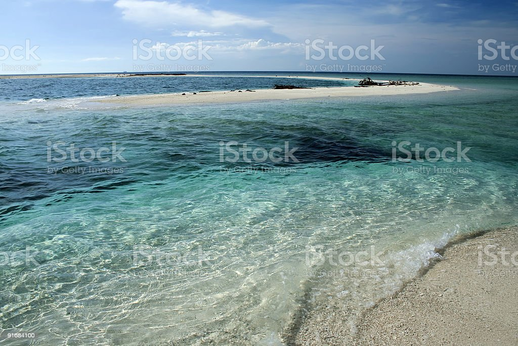 camiguin white beach seascape background philippines stock photo