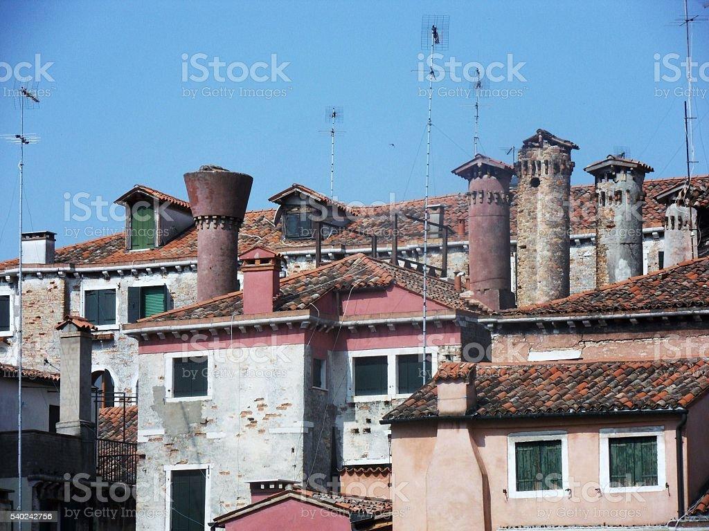 Camini veneziani stock photo
