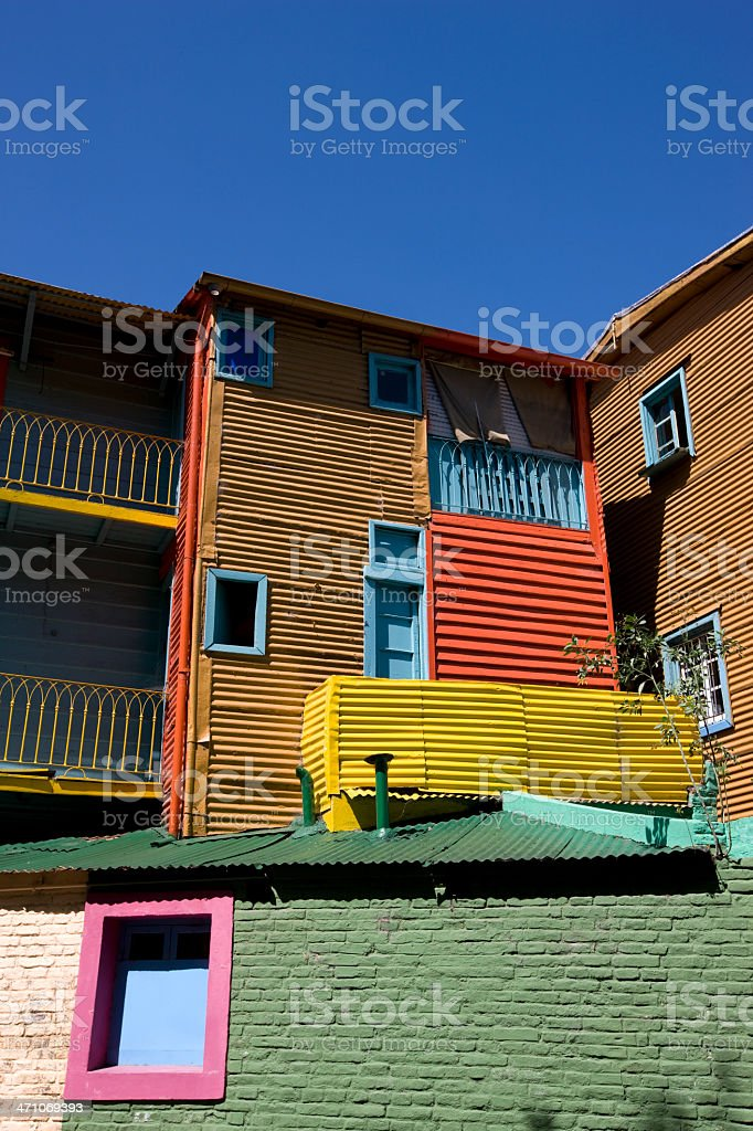 Caminito Buenos Aires La Boca District royalty-free stock photo