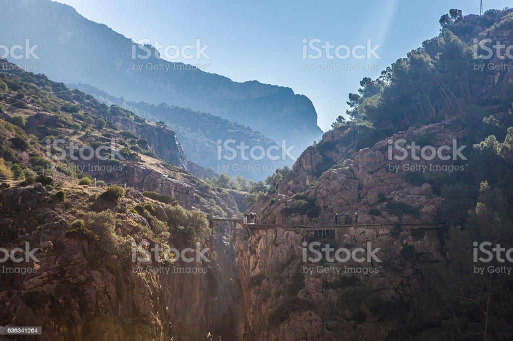 Caminito del Rey path stock photo