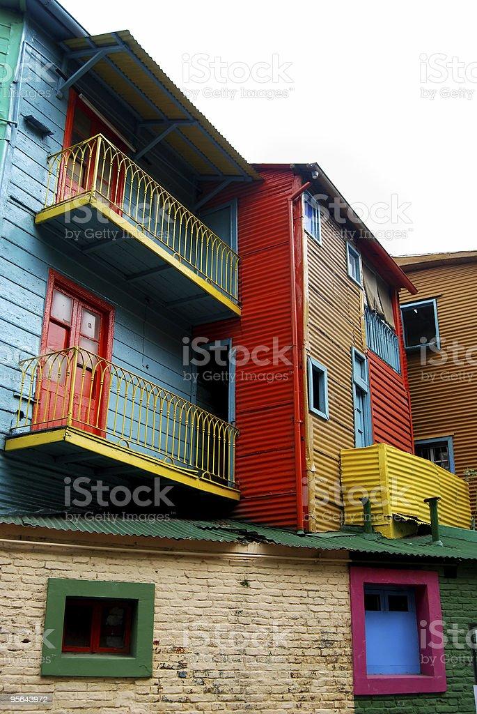 Caminito Houses - Clipping path royalty-free stock photo