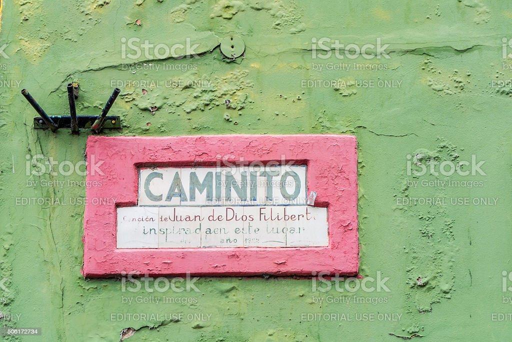 Caminito, La Boca stock photo
