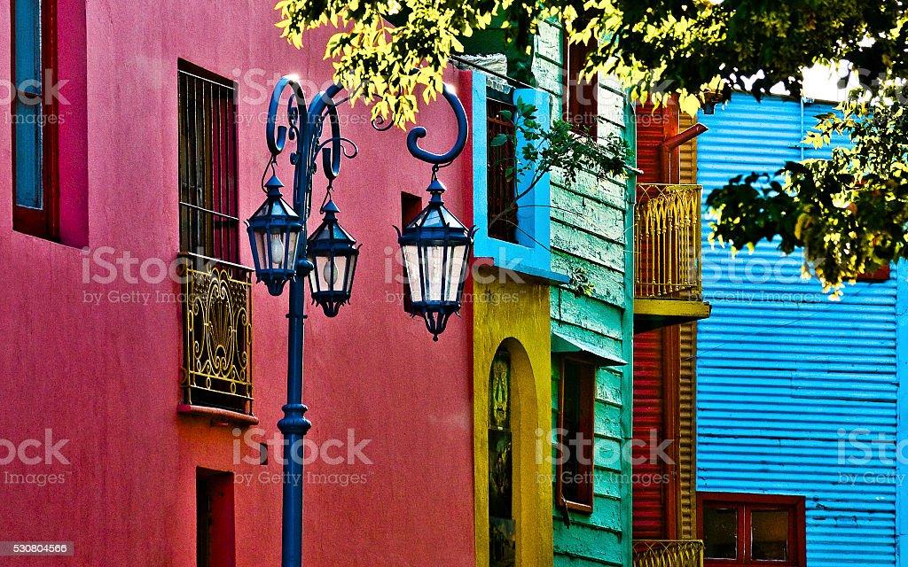 Caminito Street at Buenos Aires Argentina stock photo