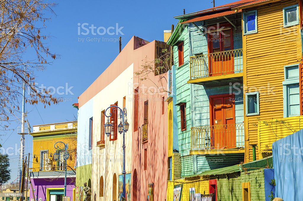 Caminito Street in Buenos Aires stock photo