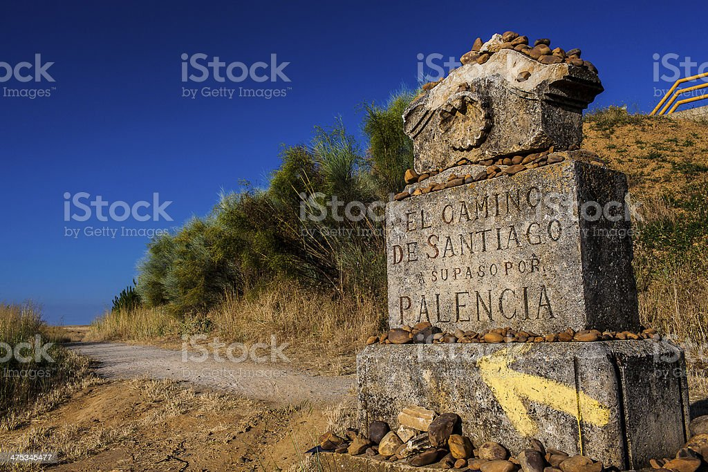 Camino de Santiago Frances stock photo