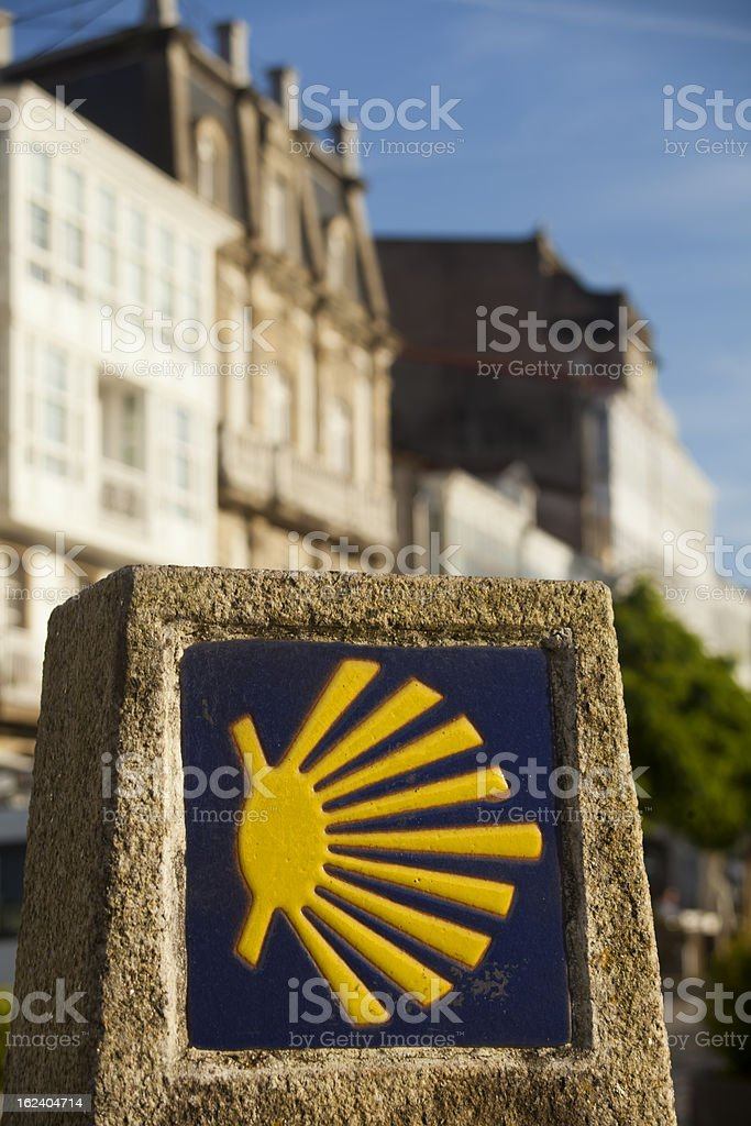 Camino de Santiago royalty-free stock photo