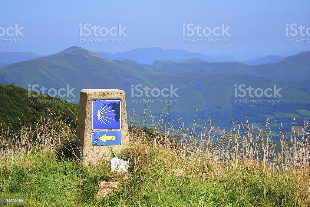 Camino de santiago, Spain, Direction Symbol stock photo