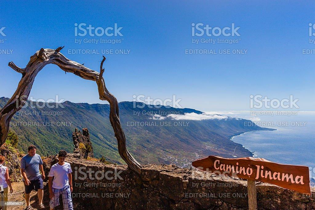 Camino Jinama, El Hierro stock photo