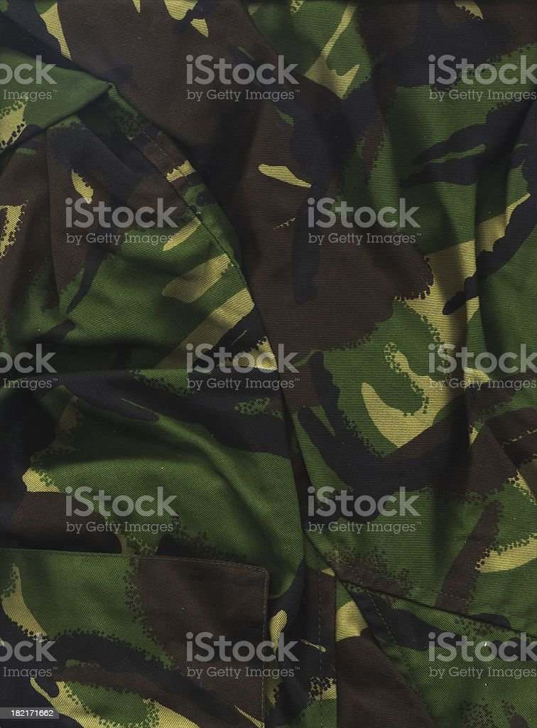 Camoflage material (hi res) royalty-free stock photo