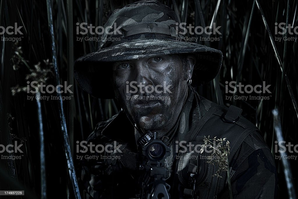 Camoflagued Soldier royalty-free stock photo
