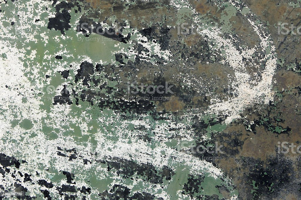 Camoflauge Paint Chipping Texture royalty-free stock photo