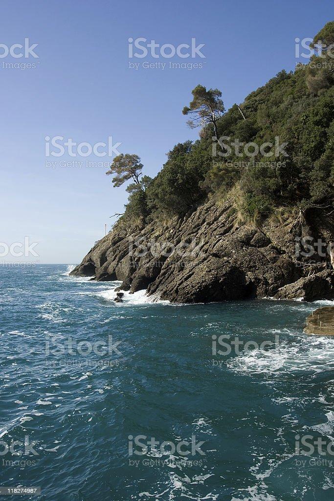 Camogli Beach, Liguria Panorama Coast - Italy stock photo