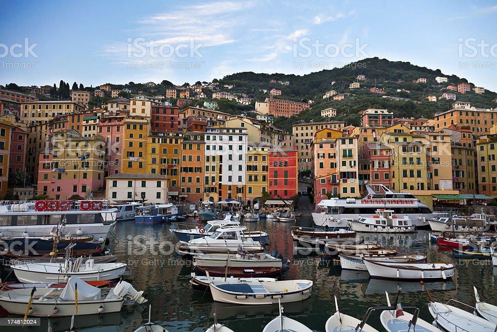 Camogli harbour royalty-free stock photo