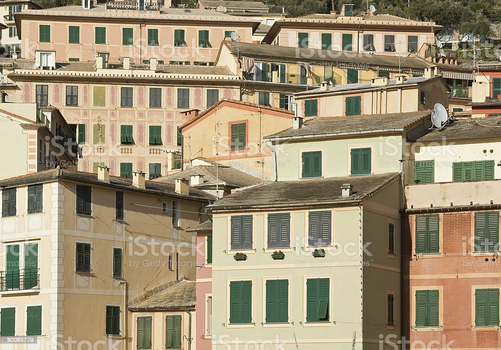Camogli houses royalty-free stock photo