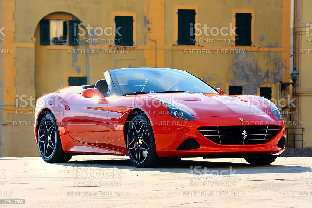 Camogli, Liguria, Italy - April 13, 2016 Ferrari California T stock photo