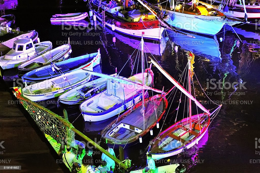Camogli, Liguria, Italy - June 14, 2015 Seafaring Festival stock photo