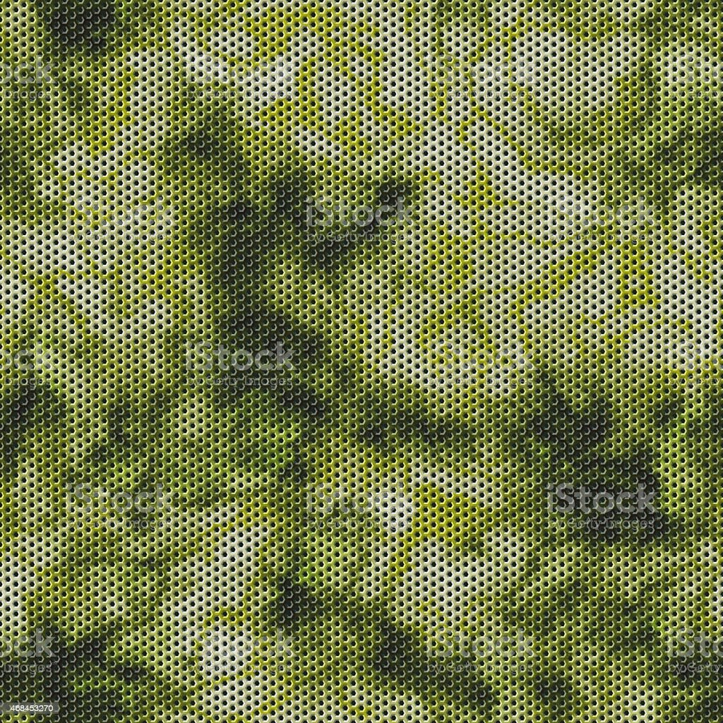 Camouflage and wire mesh seamless texture background vector art illustration
