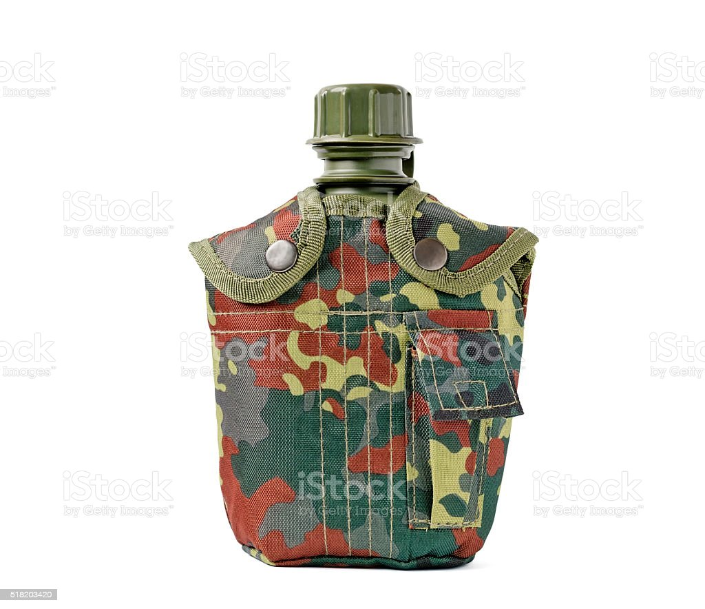 Camouflage Canteen stock photo