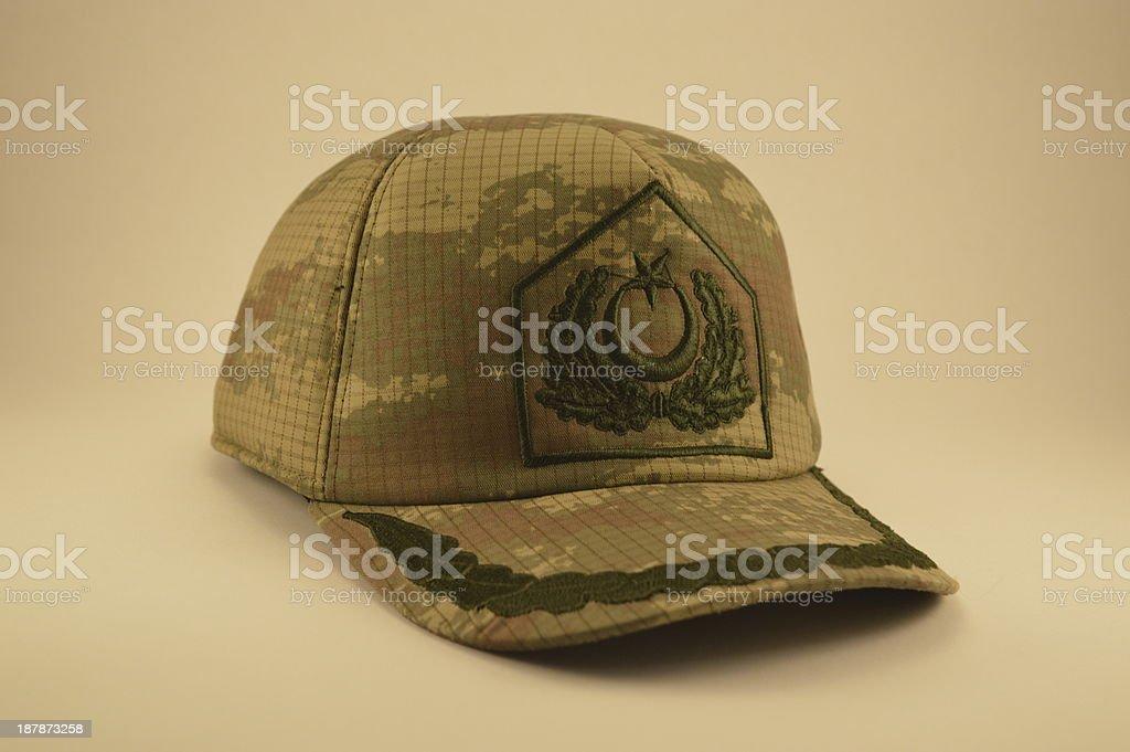 Camouflage cap stock photo
