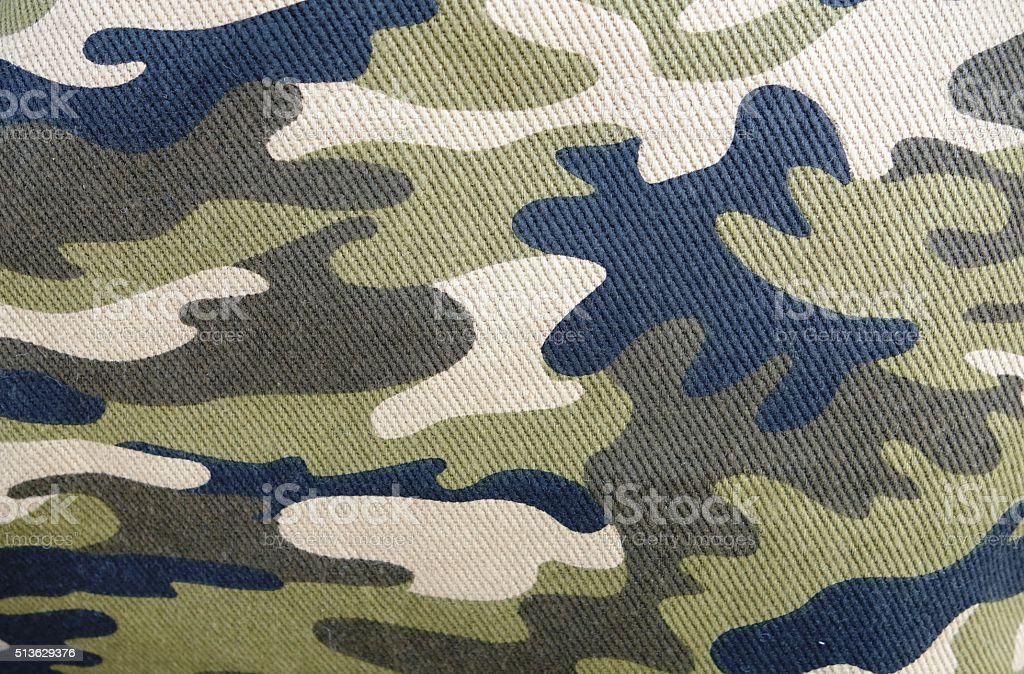 Camouflage fabric texture stock photo