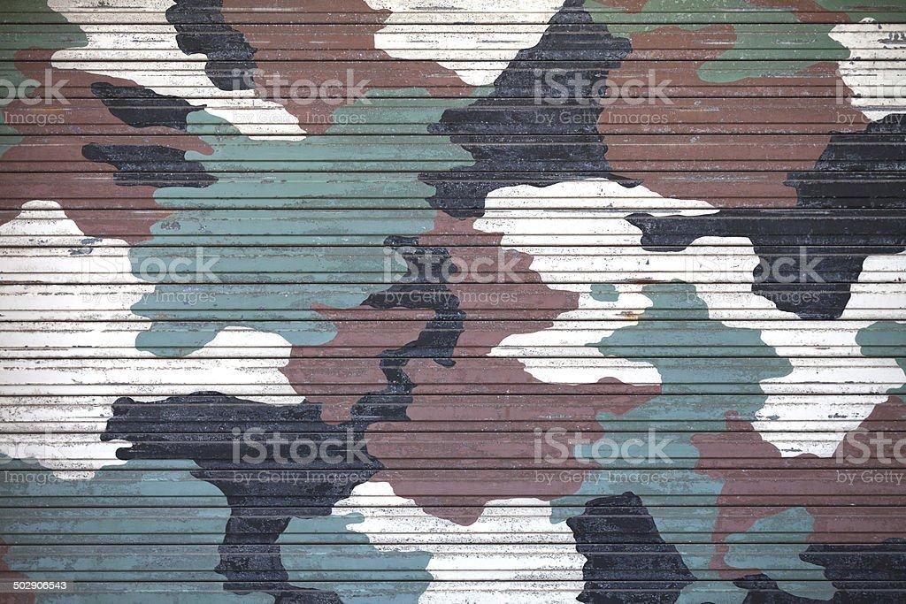 Camouflage Bügeleisen Fensterladen – Foto