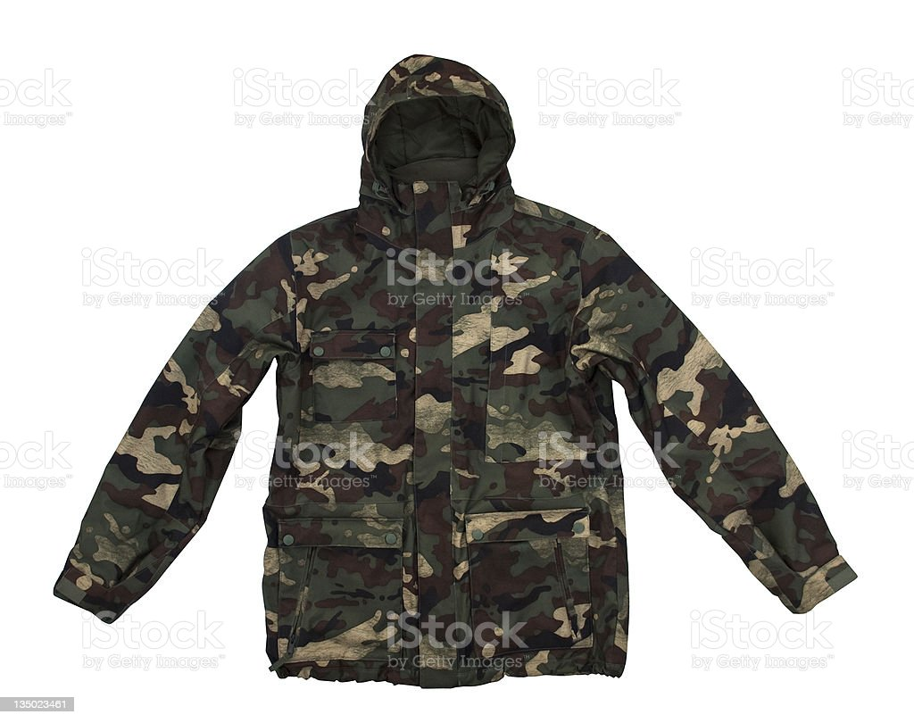 Camouflage jacket stock photo