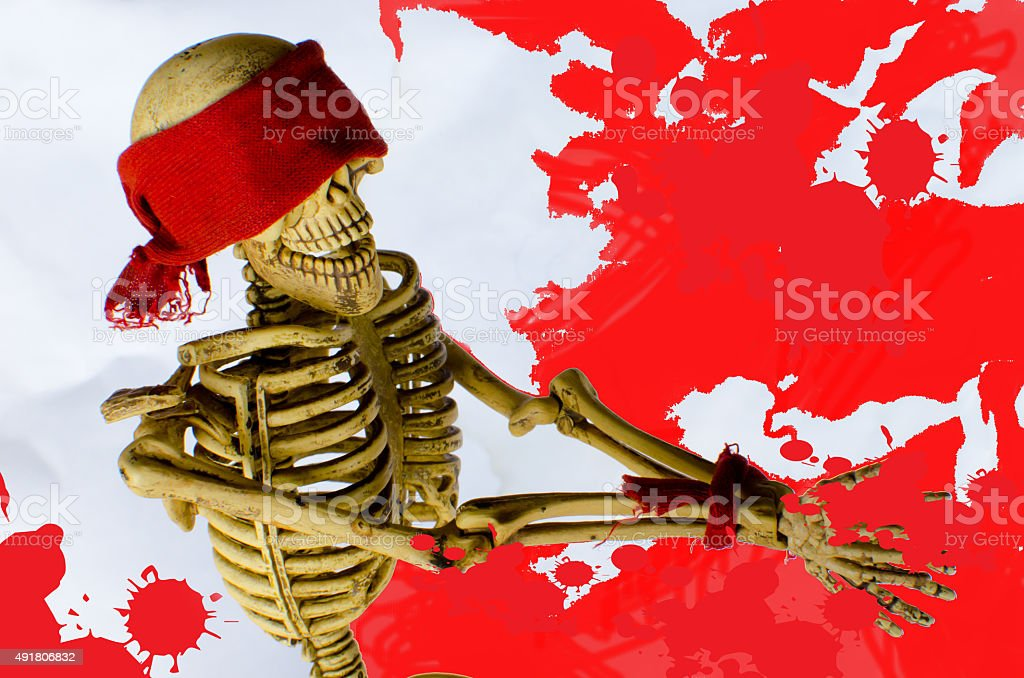camouflage murder on blood backgrounds stock photo