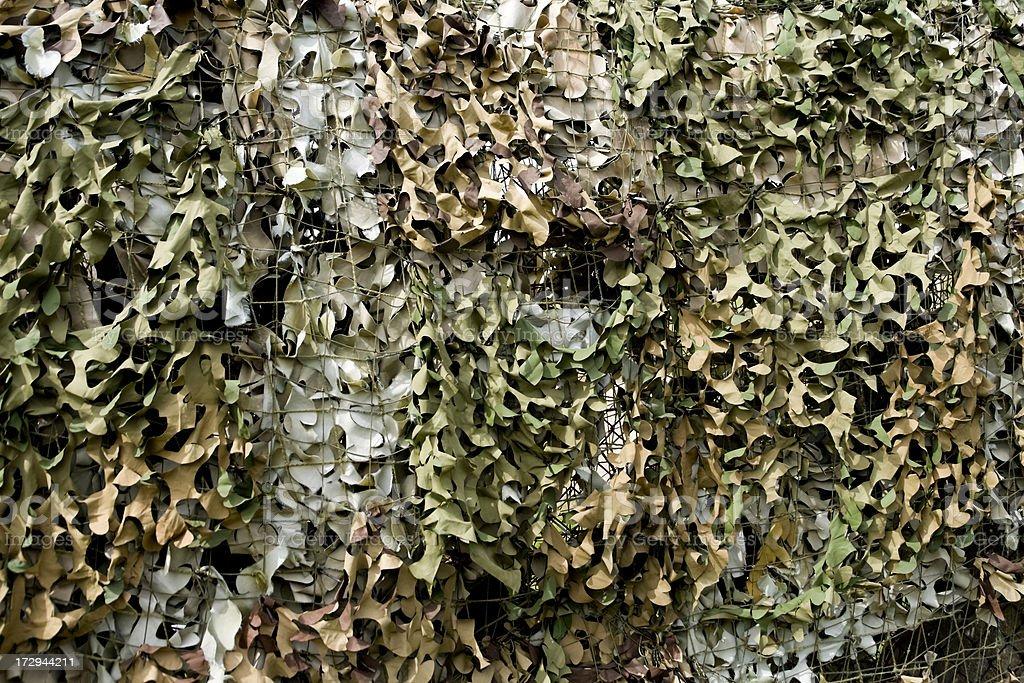 Camouflage netting stock photo