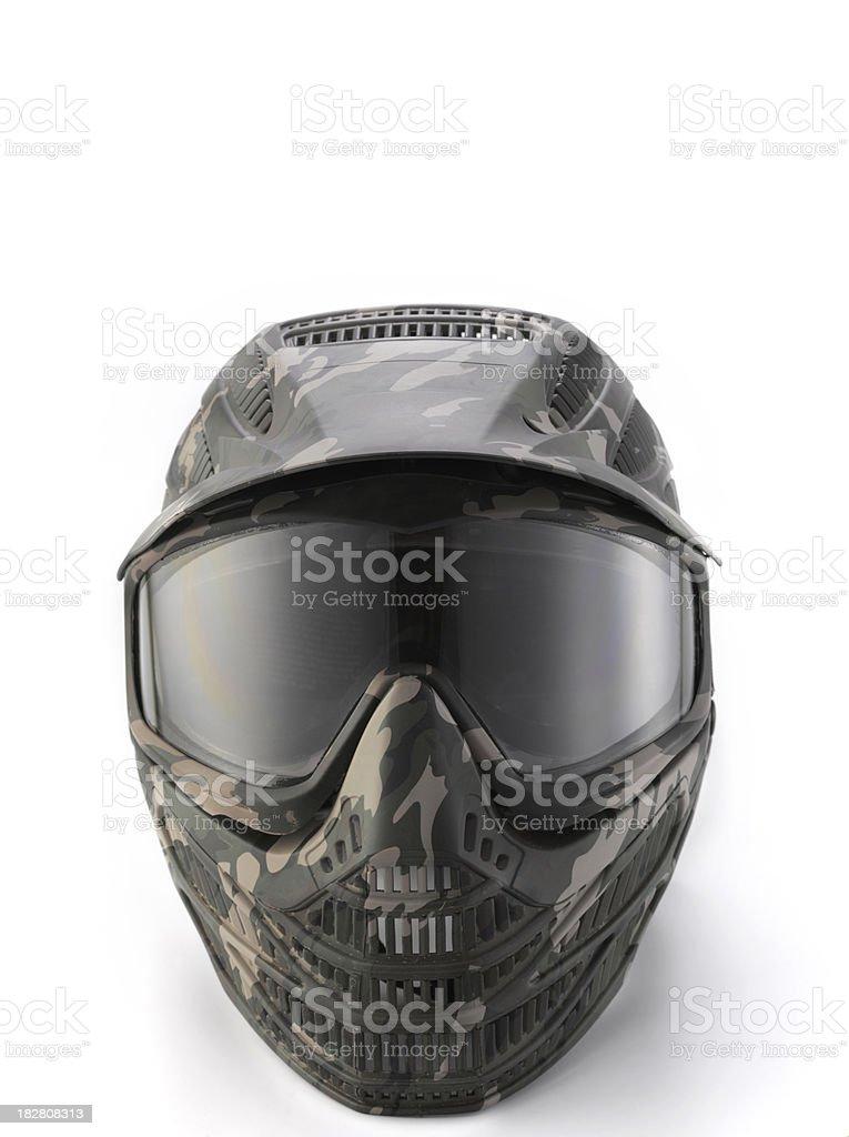 Camouflage Paintball mask stock photo