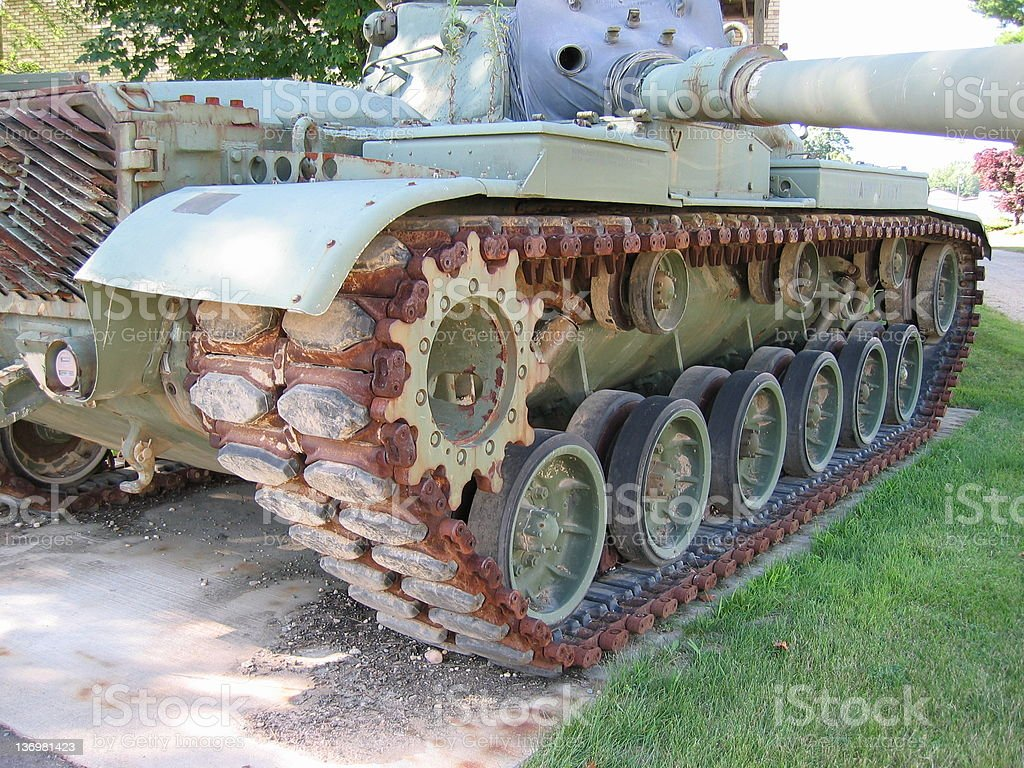 Camouflage Tank 2 royalty-free stock photo