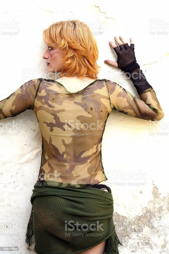 camouflage woman royalty-free stock photo