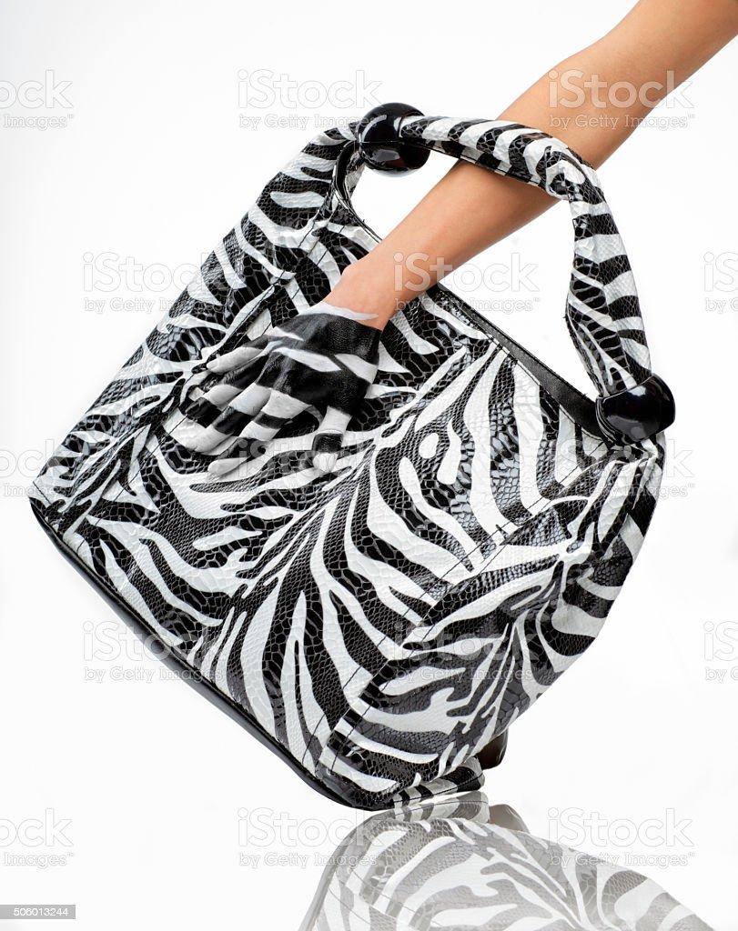 Camouflage Zebra hand painting stock photo