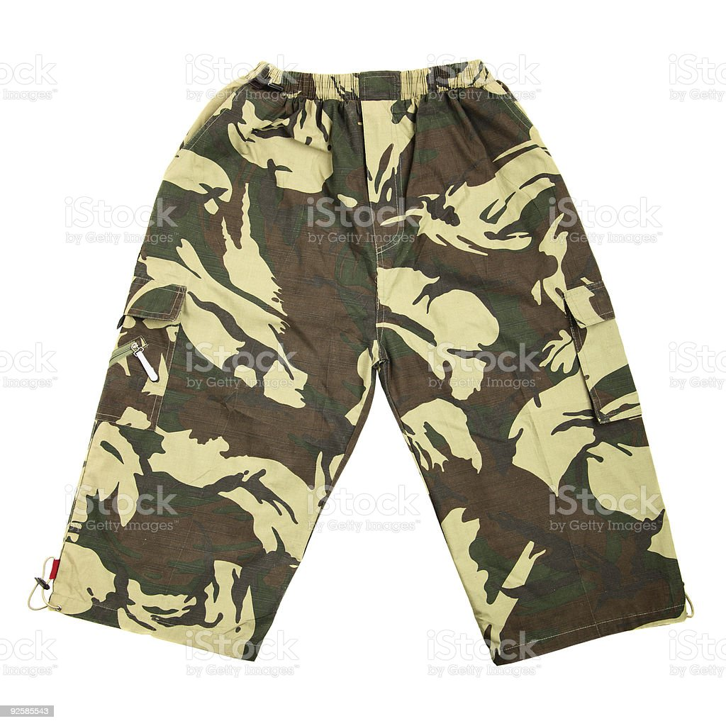 Camouflaged breeches stock photo