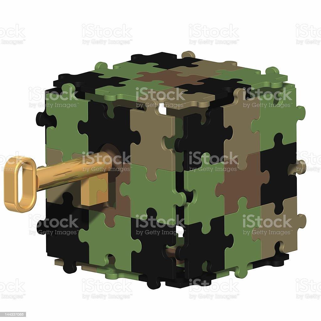 Camouflaged Puzzle Box royalty-free stock photo